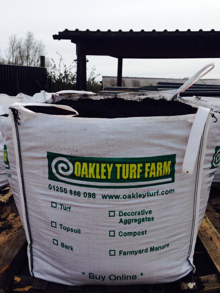 Bulk bag of topsoil from Oakley Turf